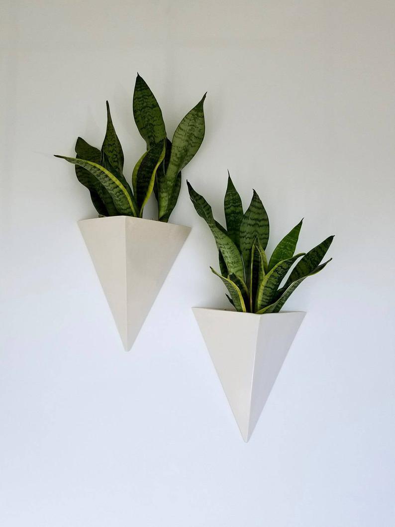 Ceramic Wall Hanging Planter Box