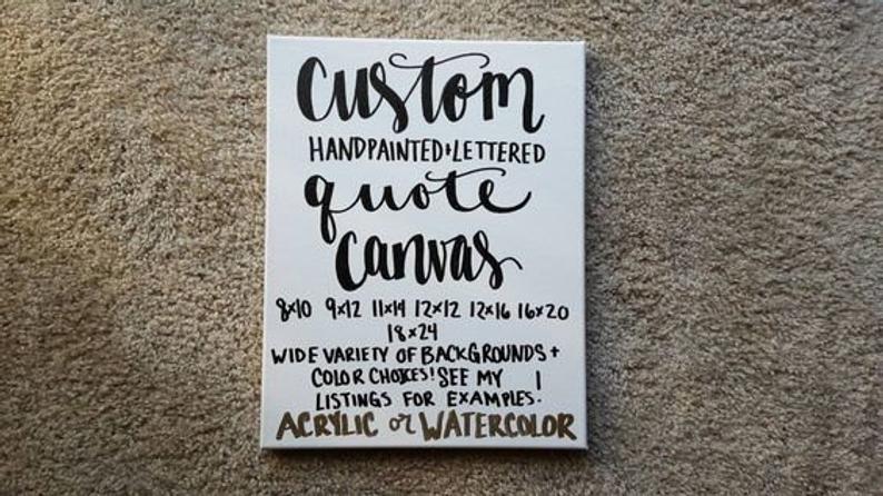 Custom Quote Canvas Custom Canvas Quote Canvas Quote Art