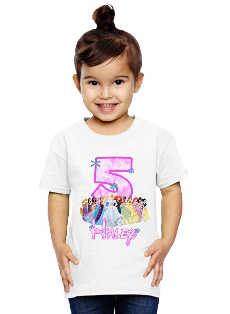 Disney Princess Birthday Shirt Customized Name and Age
