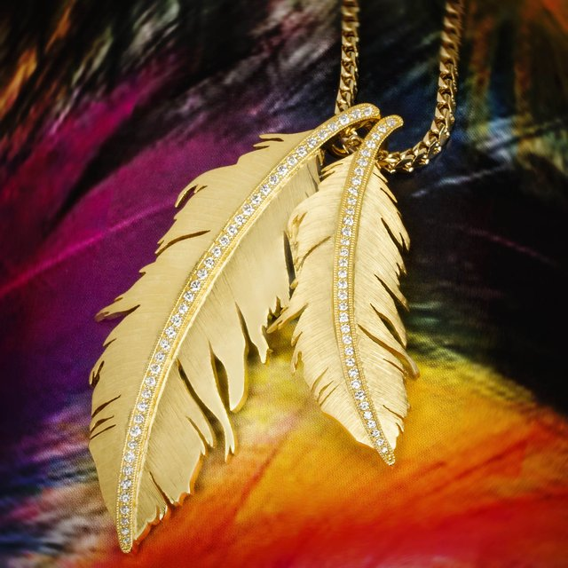 Double Feather Pendant | | Jason of Beverly Hills