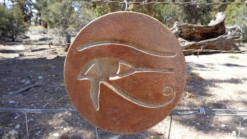 Eye Of Horus Statuary Wall Hanging Made In USA Free