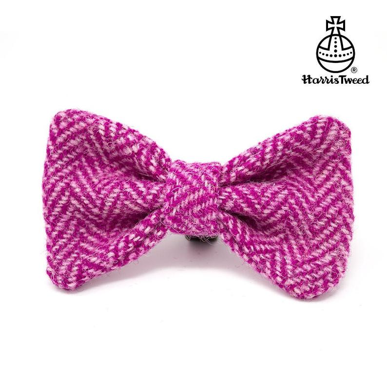 Harris Tweed Dog Bows  Bow Ties