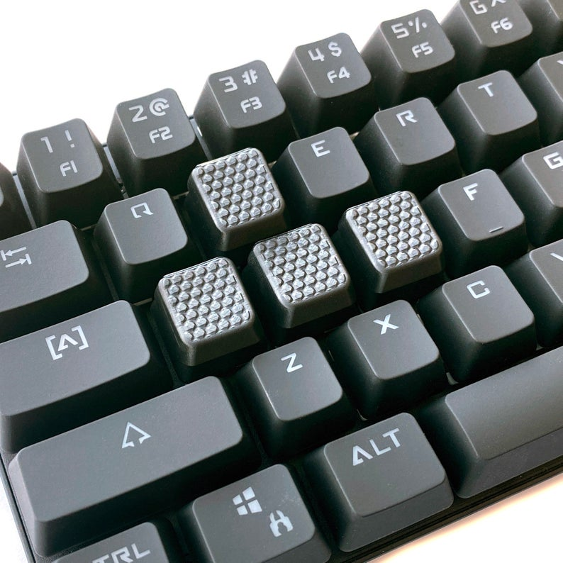 Hex Grip Gaming Keycap Set  Textured for Mechanical Gaming
