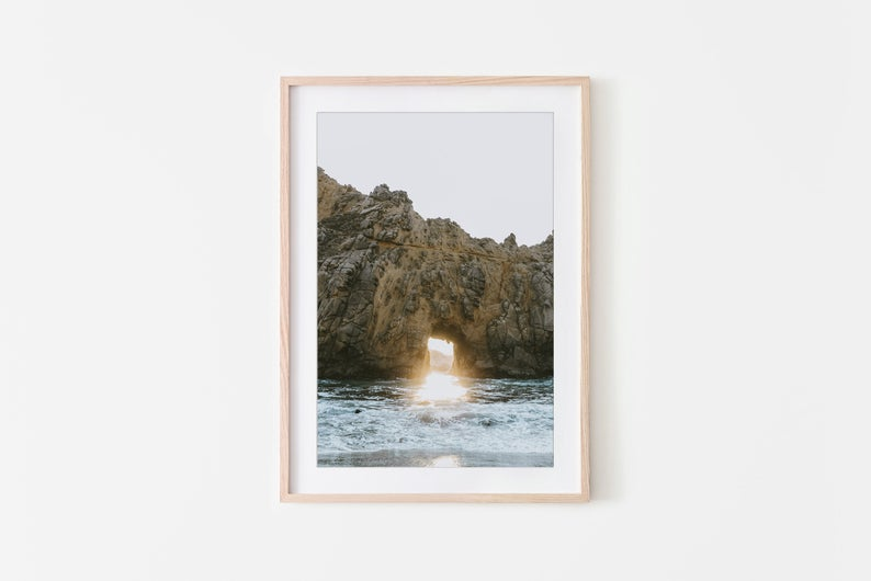 Keyhole Rock Big Sur Ocean Wall Art California Wall Art