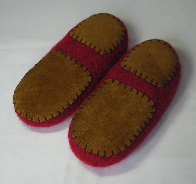 Leather slipper soles for women's slippers non-slip for