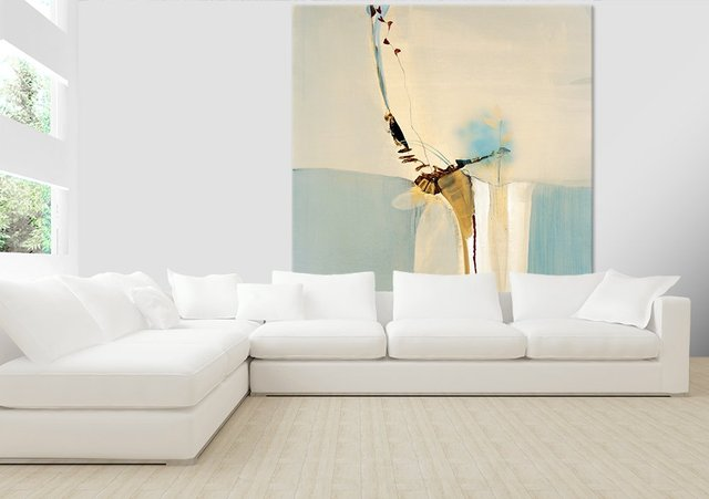 Light Fast II. Giant Abstract Art Print on Canvas. 72 x 84 inches.
