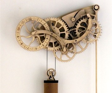 Mechanical Wooden Clock Kit