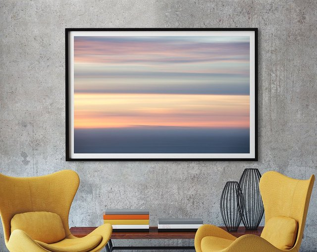 Ocean Kisses Sky Art print by Erle KaCee