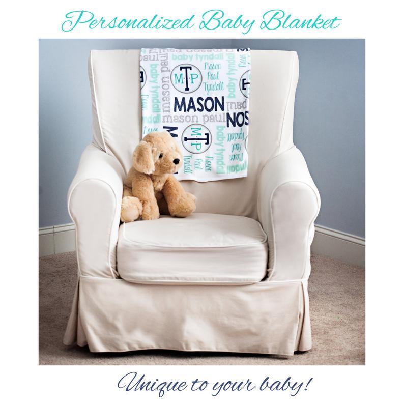 Personalized Baby Blanket  Baby Milestone Blanket  Custom