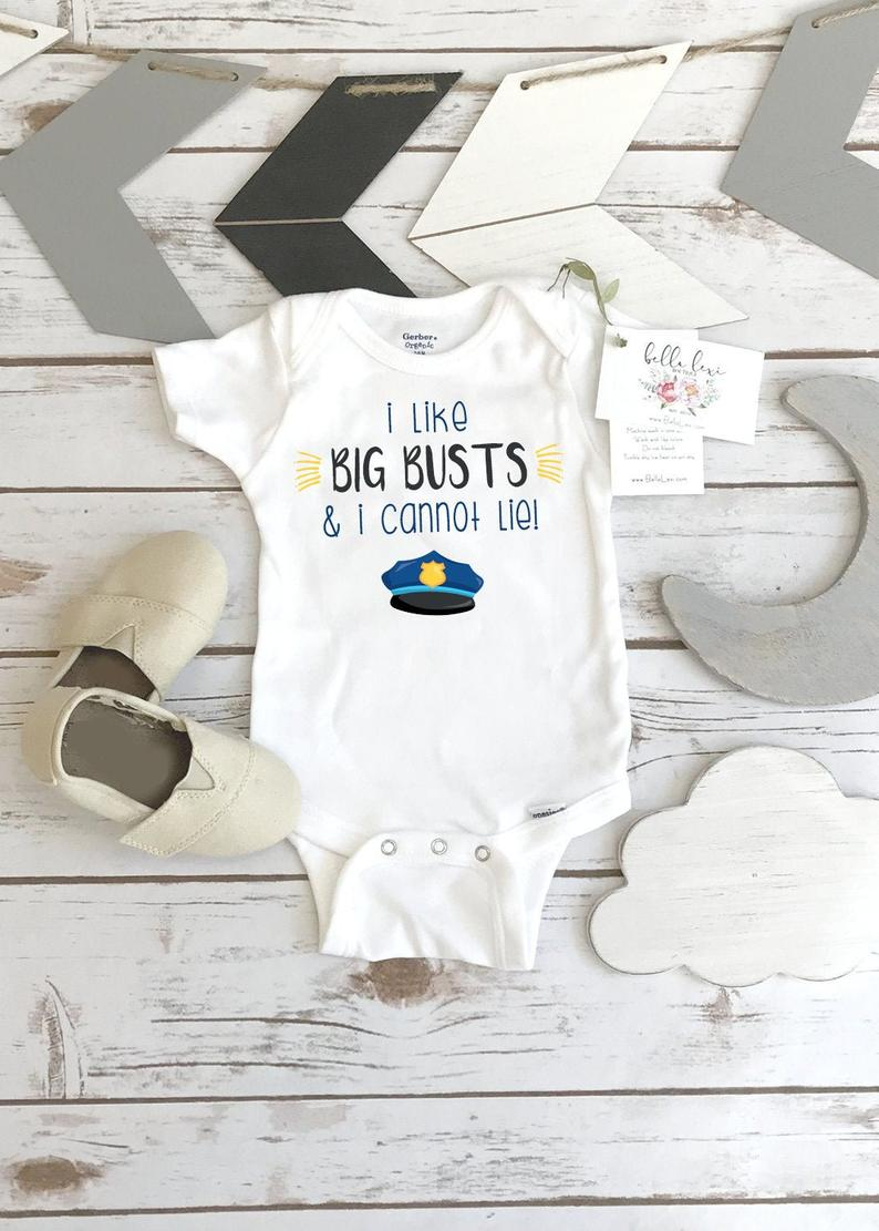 Police Baby Reveal I like Big Busts and I Cannot Lie Law
