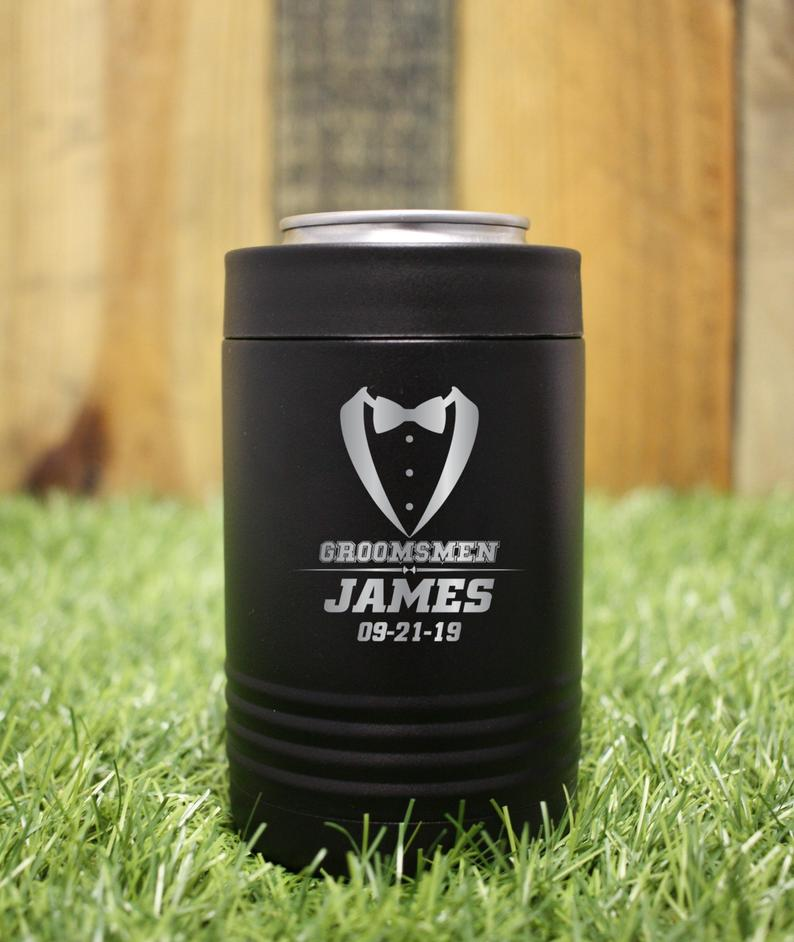 Set of 7 Groomsmen Gifts Bridal Party Gifts Custom Can