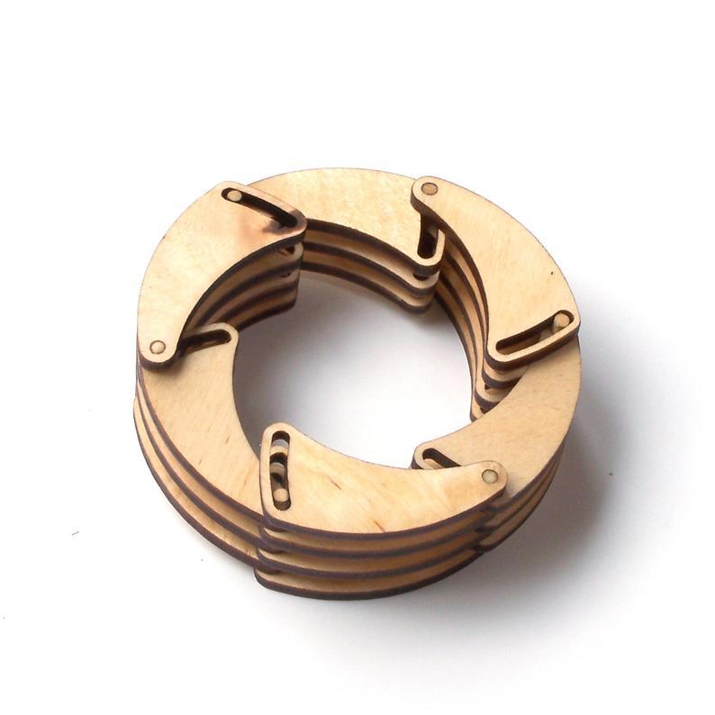 Shutter  laser cut wooden bracelet