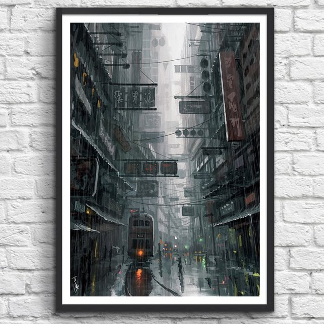 The City Print by Wlop