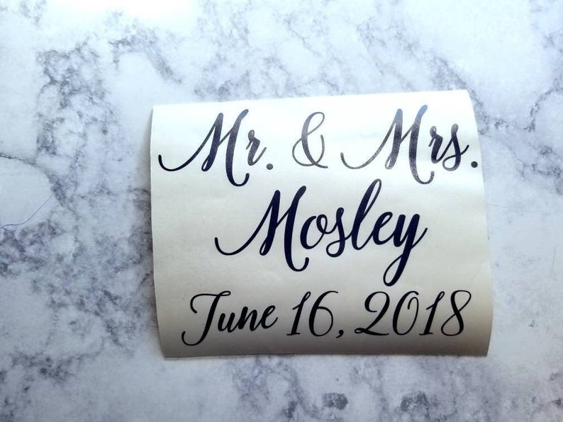 Wedding Decal Custom Wedding Vinyl Personalized Wedding