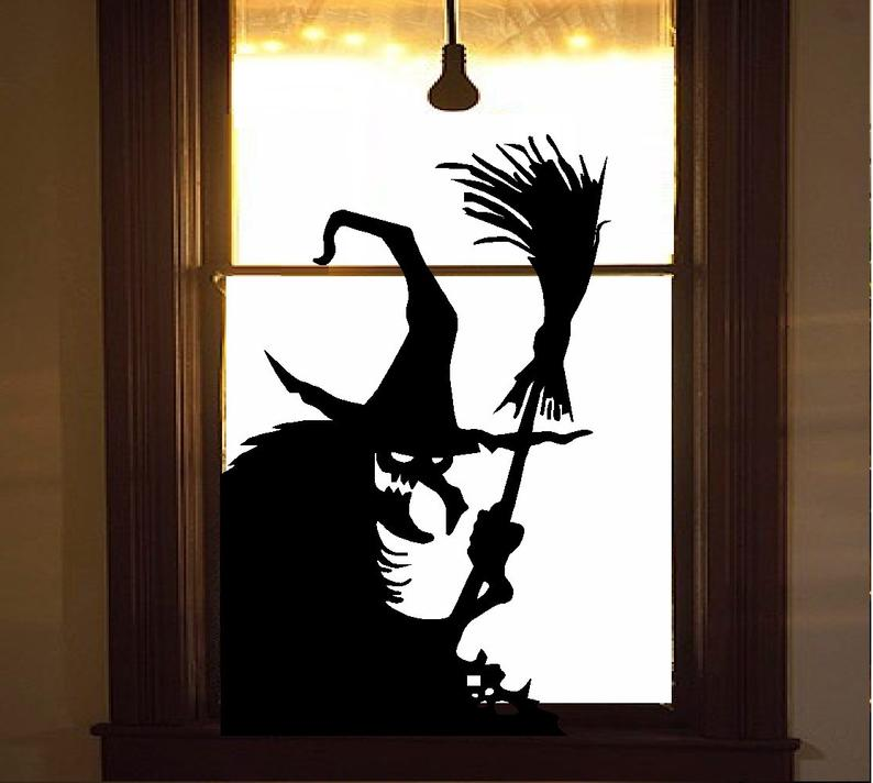Wicked Witch 11 Wall or Window Decal : Halloween