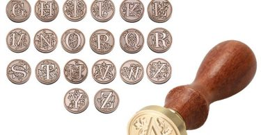 A-Z Initial Letter Wax Seal Stamp Alphabets  Classic Wood Wax