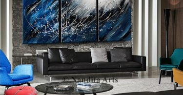 Abstract Blue Art Storm Color Blue Painting Cool Tone Blue