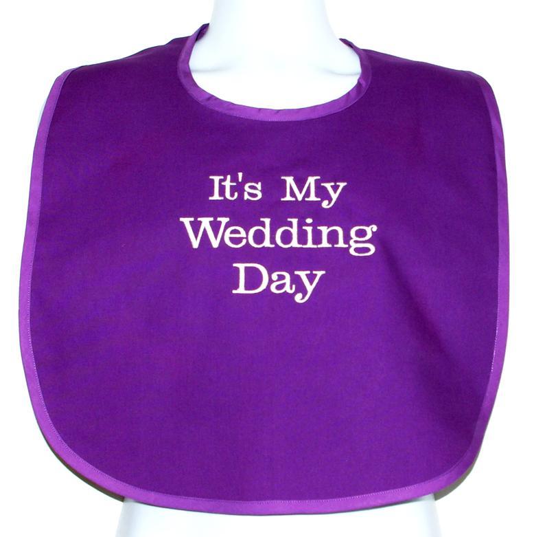 Adult Bib Gag Gift Groom Bride Wedding Day Couples Bridal