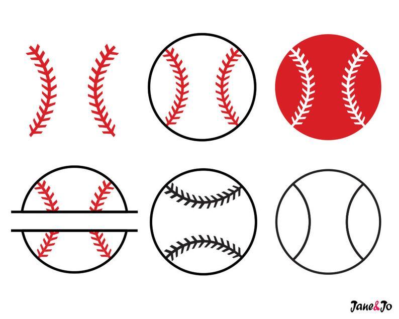 Baseball SVGBaseball SVG Cut filesBaseball monogram for