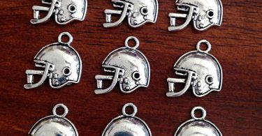 Bulk 20 Football Helmet Charms Antique Silver Charms