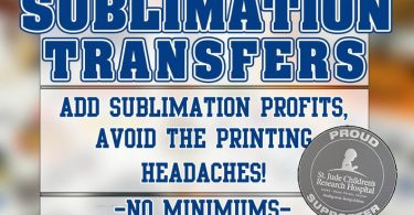 Custom SUBLIMATION Transfers Sheets up to 24 x