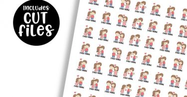 Date night planner stickers Couple stickers Cute stickers