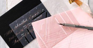 Envelope Addressing Template Envelope Guide Hand Calligraphy