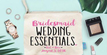 Essentials Bridesmaid Makeup Bag Wedding Day Makeup Bag