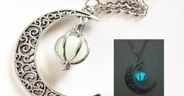 Glowing Crescent Moon NecklaceGlowing Orb Necklaceglow in