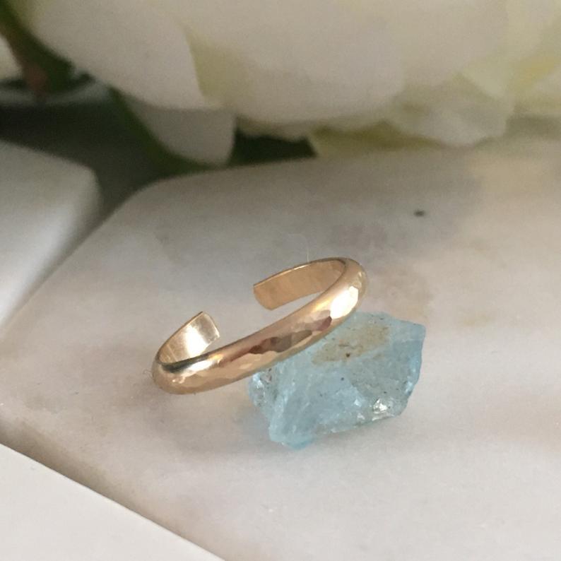 Gold toering 14k gold filled toe ring adjustable gold toe