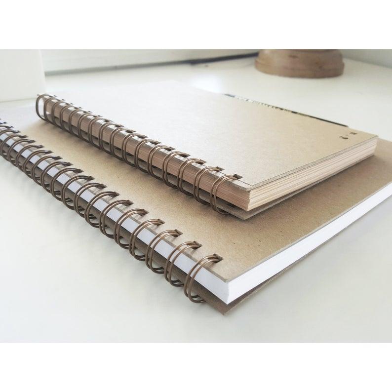 Handmade Kraft Spiral Notebook Writing Journal Diary Binder