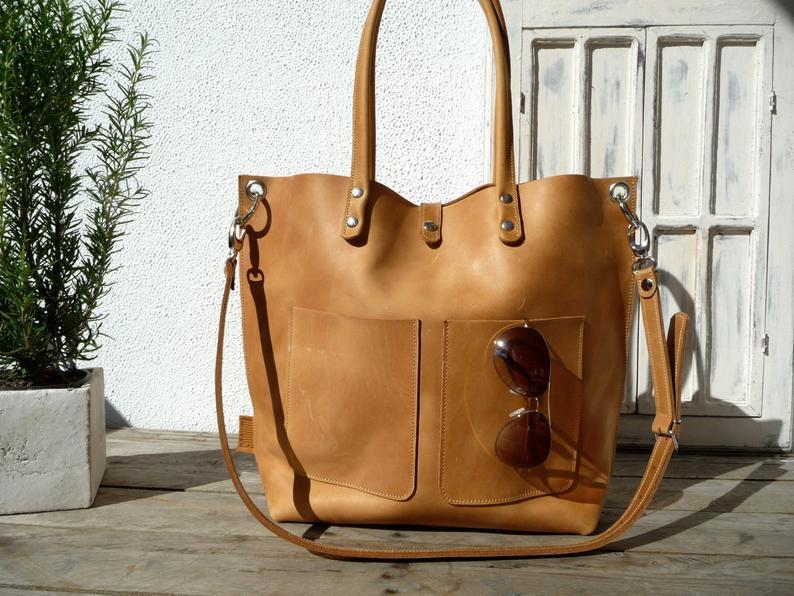 Large leather bag Leather bag Shoulder bag leather Leather