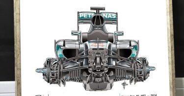 Mercedes 2016 F1 Poster