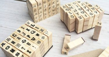 Miniature alphabet stamp set  Alphabet stamps  Make your own