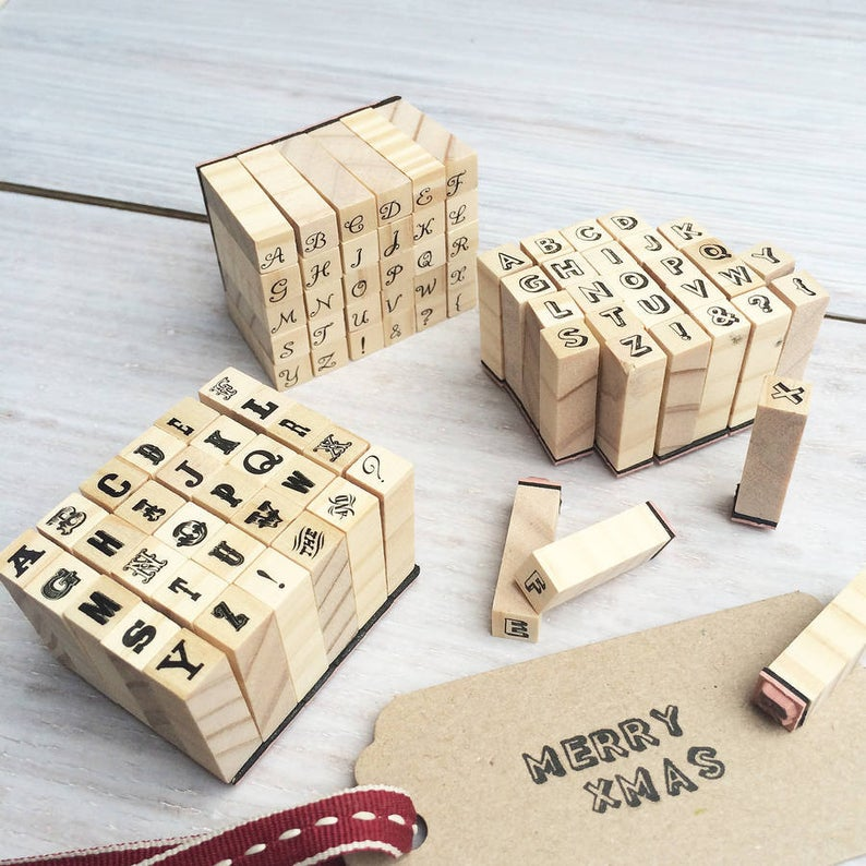 Miniature alphabet stamp set  Alphabet stamps  Make your own
