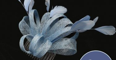 Pale Blue Fascinator Hair Clip Comb Wedding Hat Derby Hat