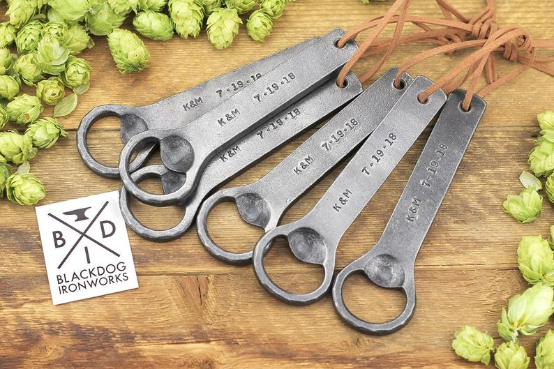 Personalized Bottle Opener  Hand Forged Wrought Iron