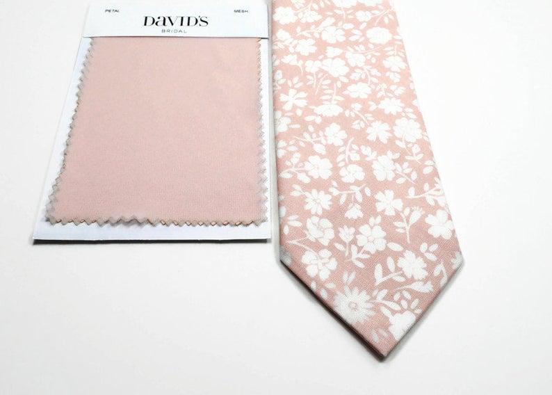 Petal Neckties Blush Floral Neckties Wedding Neckties Davids