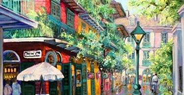 Pirates Alley Painting New Orleans French Quarter