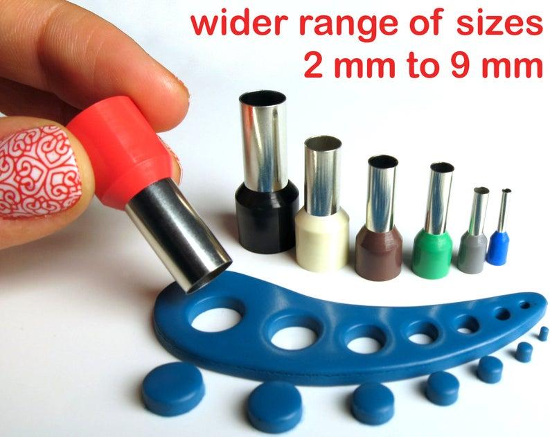 Polymer clay mini circle cutters set kemper style no seams