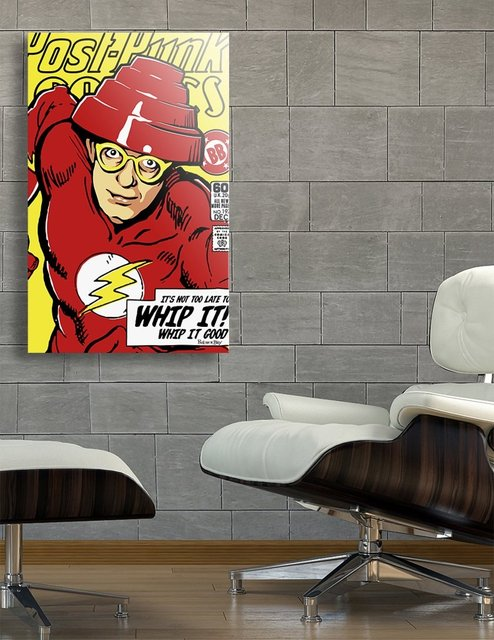 Post-Punk Comics | Whip It, Acrylic Glass Print by Butcher Billy