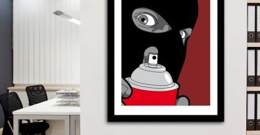 Real Hero Banksy Fine Art Print by GrGoire Guillemin