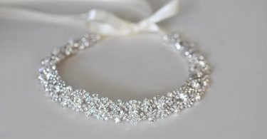 Rhinestone Wedding Headband Silver Bridal Headpiece Silver