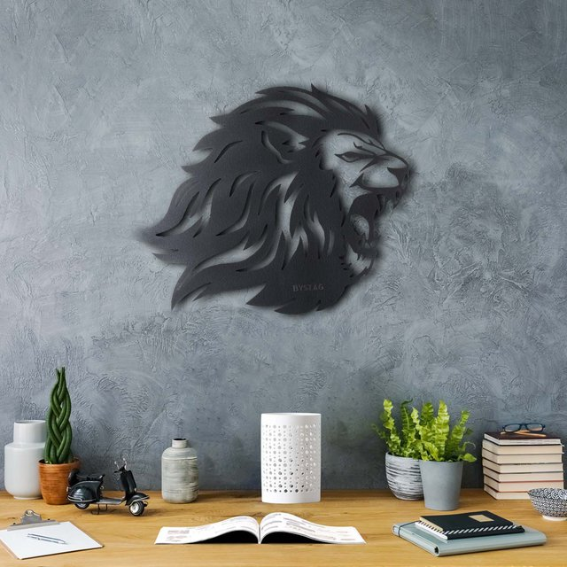Roar Lion Metal Wall Decor