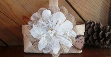 Rustic Flower Girl Basket Flower Girl Basket Wedding Basket