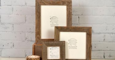 Rustic Natural Reclaimed Cedar Wood Picture Frame  Choose