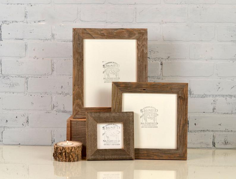 Rustic Natural Reclaimed Cedar Wood Picture Frame  Choose