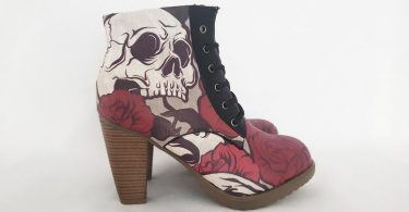 Skull boots custom shoes steampunk boots halloween