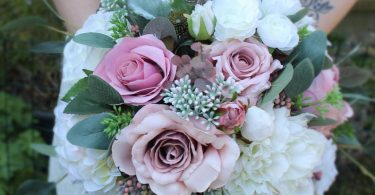 Sophie Artificial Blush Dusky Pink Bridal Bouquet-Dusky Pink