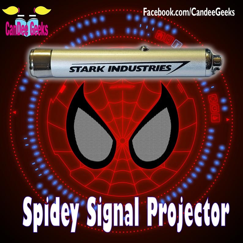 Spiderman webshooter signal projector torch keyring